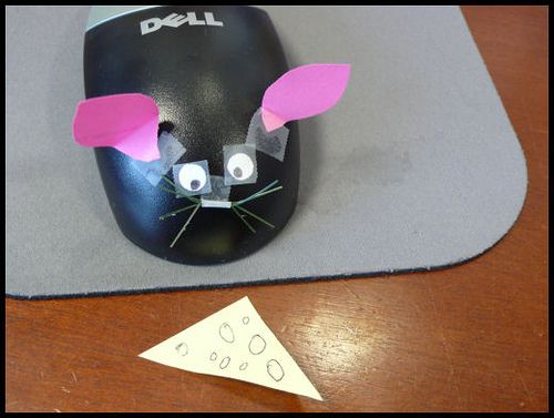 April Fools idea, or just to get a laugh.  Computer mouse to a cute homemade mouse in just seconds!