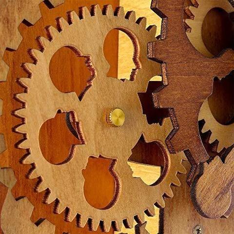 Creative 3d Brain Wooden Wall Clocks Novarian Creations In 2020 Modern Home Electronics Wooden Walls Steampunk Table Lamp