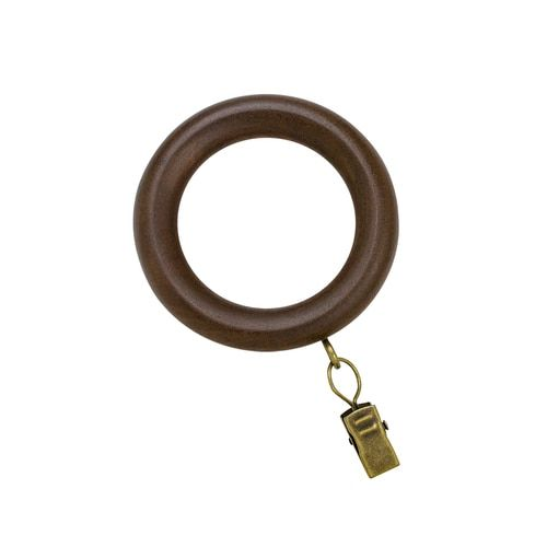 Shop Allen Roth 7 Pack Brown Curtain Ring In The Curtain Rings