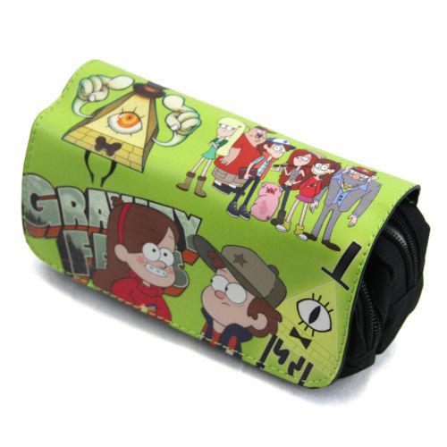New DIPPER and MABEL Gravity Falls Clutch Wallet Purse (Pencil Case Pouch)