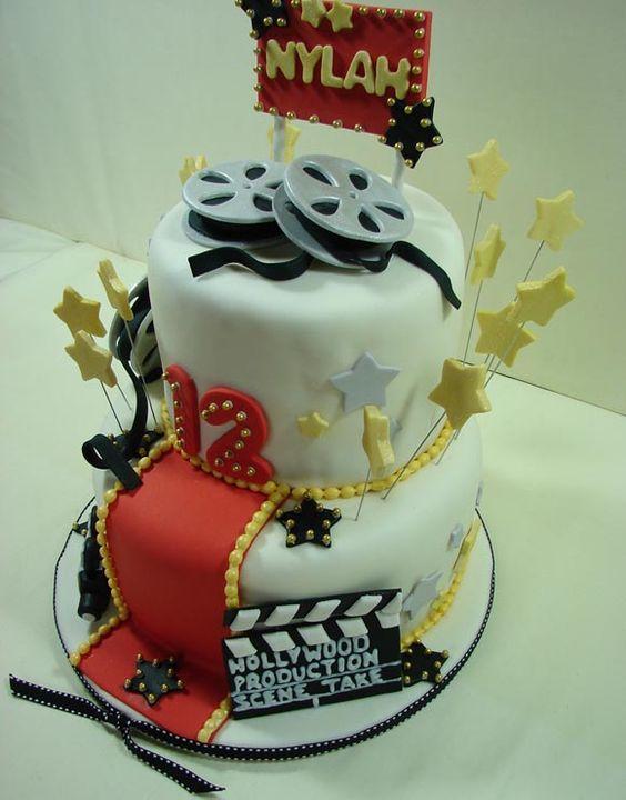 Red Carpet Theme Birthday Party Cakes