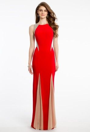 Jersey Illusion Dress with Mesh Godets from Camille La Vie and Group USA