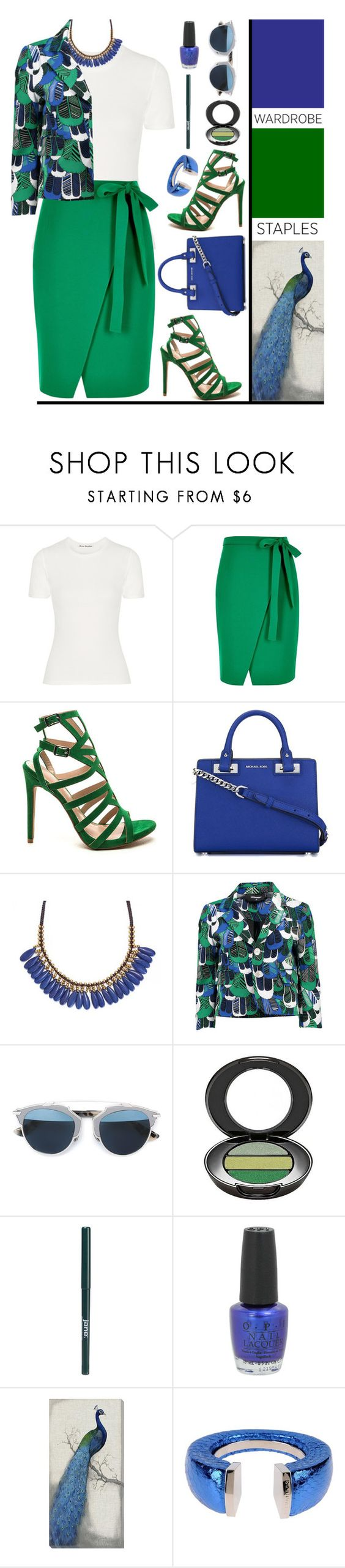 """White T-Shirt'"" by dianefantasy ❤ liked on Polyvore featuring Acne Studios, River Island, MICHAEL Michael Kors, Roni Kantor, Christian Dior, Boots No7, jane, OPI, Home Decorators Collection and Dsquared2"