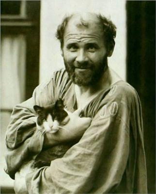 Gustav Klimt and Kitty