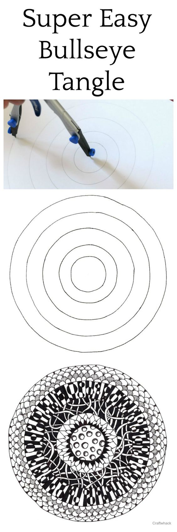 How to make a cool bullseye tangle drawing pinterest for Super easy drawings