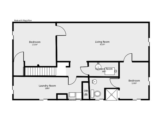 basement Floor Plan Flip flop stairs and furnace room Basement