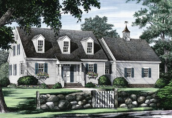 Plan 32435wp Cape Cod With Open Floor Plan In 2021 Cape Cod House Plans Cape Cod House Exterior Cottage House Plans