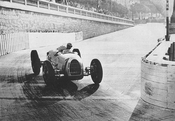 Auto Union Type C during the 1937 Monaco Grand Prix.