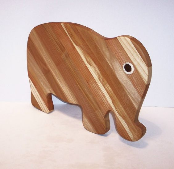 BIG Elephant Cutting Board Handcrafted from Mixed by tomroche