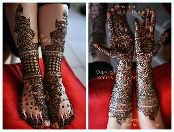 Henna Tattoo Toronto : Copyright � sonia s henna art bridal designs mehndi