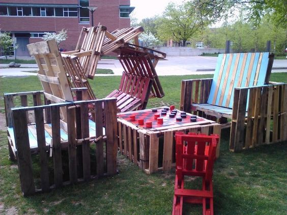 Repurposed pallets get new life as playground equipment for Playground equipment ideas