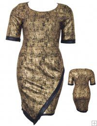 METALLIC GOLD ASYMMETRICAL BODYCON DRESS  WHOLESALE PLUS SIZE DRESSES  8904 PLUS BODYCON UNIT PRICE$13.75 1-1-1PACKAGE3PCS