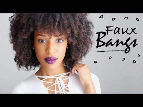 NAPPY • Faux BANGS w/ Natural Hair // Fausse FRANGE cheveux naturels crépus [EN & FR] - YouTube
