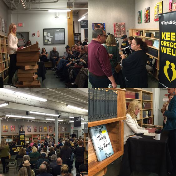 "This evening I had the pleasure of joining Sheila Hamilton at the Portland launch of her new memoir, ""All The Things We Never Knew: Chasing The Chaos Of Mental Illness"".  Listening to my sweet friend read such tender words from her story to a completely packed house tonight, I thought to myself:  ""THIS is what saving lives looks like.  THIS is what it means to own your pain in a way that helps others find the way to owning theirs.  THIS is beautiful healing, incarnate.""  Thank you darling…"