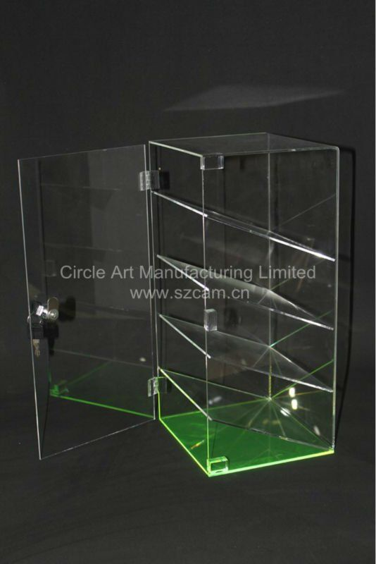 Lockable Acrylic Display Showcase, Perspex Display Case,Lucite Display Box $18~$25