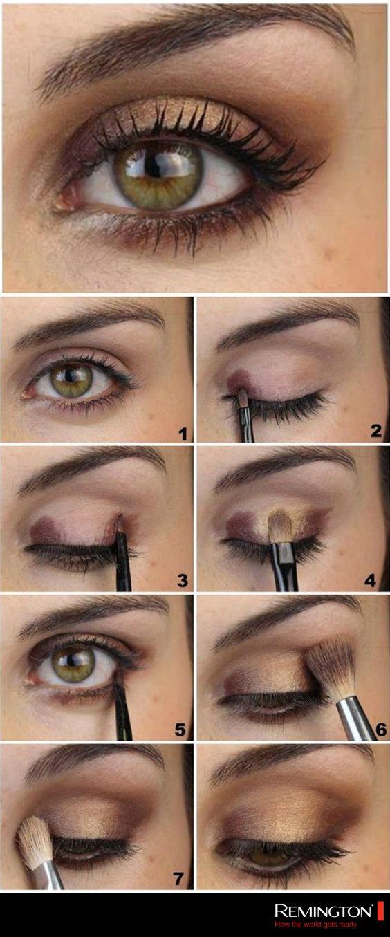 Obtén una mirada profunda y utiliza tonos ocres para proporcionarle a tu maquillaje un toque elegante. #makeup #eyes #DIY #fashion #woman