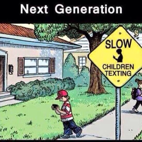 Texting kids
