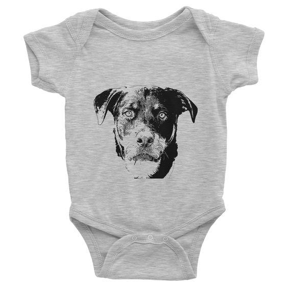 Rottweiler Infant Baby Rib Short Sleeve One-Piece