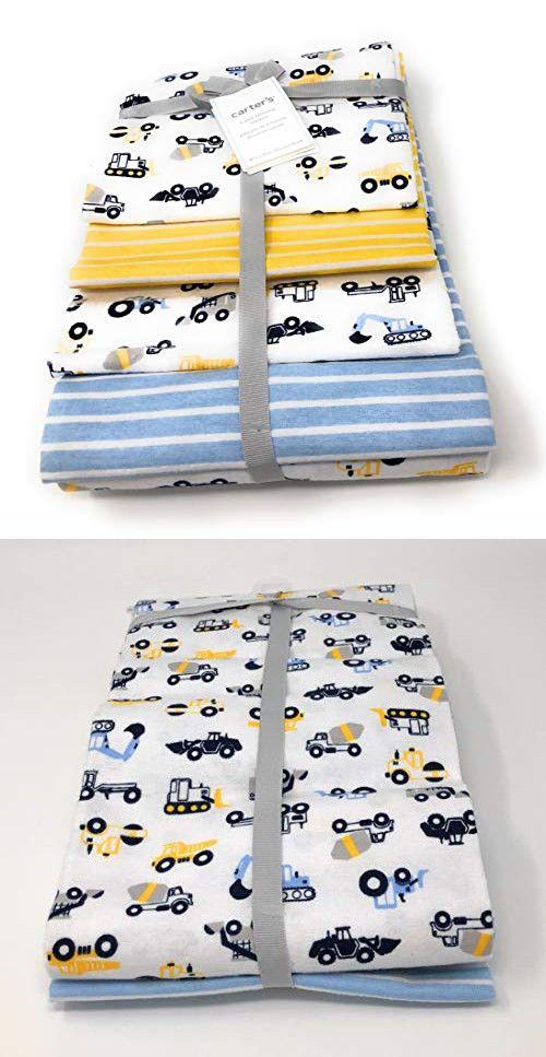 One Size Luvable Friends 4 Piece Flannel Receiving Blanket Unicorn