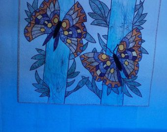 3D Butterfly Wall Art Yellow and Grey Ombre by TheCoralCanopy