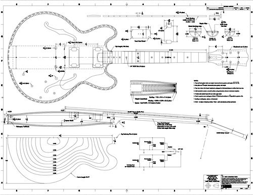 Free pdf guitar blueprints lutheria pinterest les for Printable blueprints