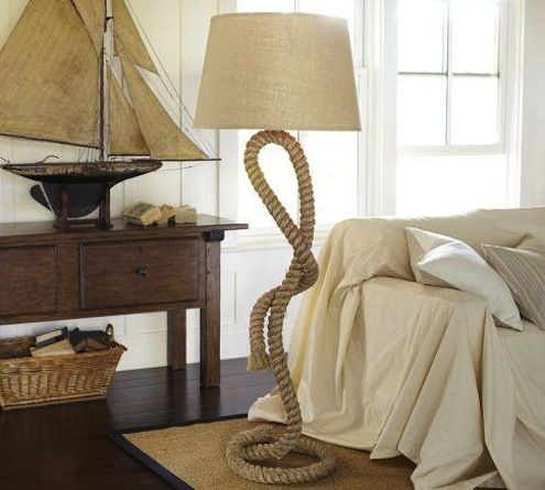 "Rope floor lamp. 20 ""Why Didn't I Think of That"" Ways to Decorate with Rope. #modern meets #classic:"