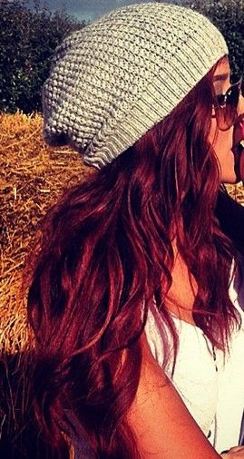 Love her hair. Giving myself a goal to grow my hair a tad longer than changing the color immediately.
