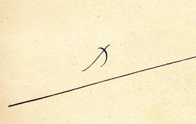 Desde el siglo V en adelante, la gente empieza a firmar con una X, que significa