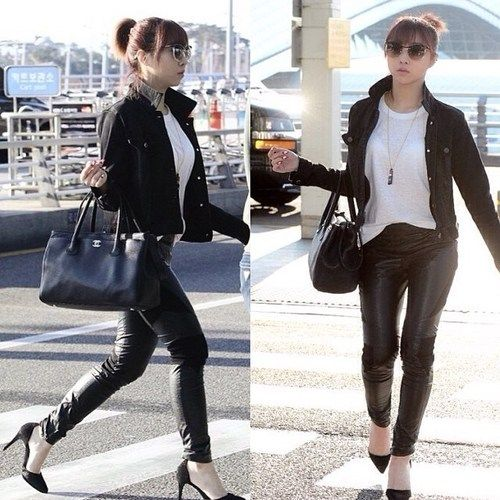minzy 2ne1 airport fashion street style 2ne1 airport