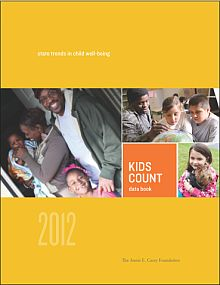 The Annie E. Casey Foundation's 2012 KIDS COUNT® Data Book shows both promising progress and discouraging setbacks for the nation's children: While their academic achievement and health improved in most states, their economic well-being continued to decline. The new methodology reflects the tremendous advances in child development research since the first KIDS COUNT Data Book in 1990.