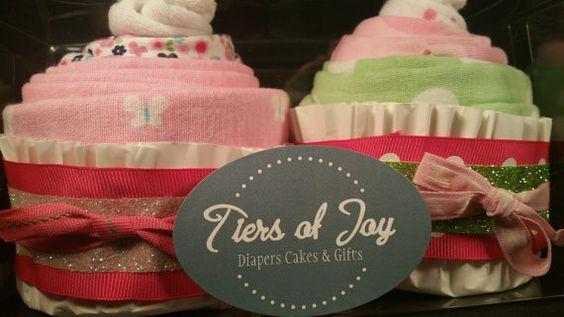 Girls RECEIVING BLANKET CUPCAKES w/ cute  baby  by TiersofJoybyUs