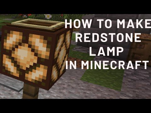 How To Make Redstone Lamp In Minecraft In 2020 How To Make Redstone Lamp In Hindi Youtube In 2020 Minecraft Lamp Outdoor Storage Box