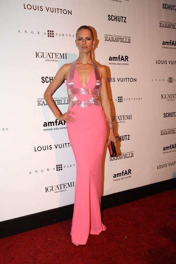 Karolina Kurkova in Atelier Versace dress