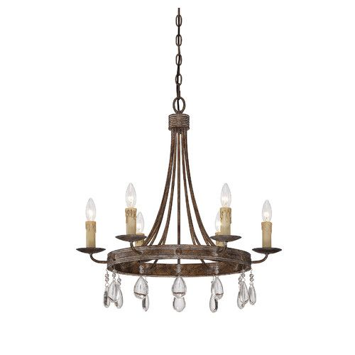 Found it at Wayfair - Carlisle 6 Light Candle Chandelier