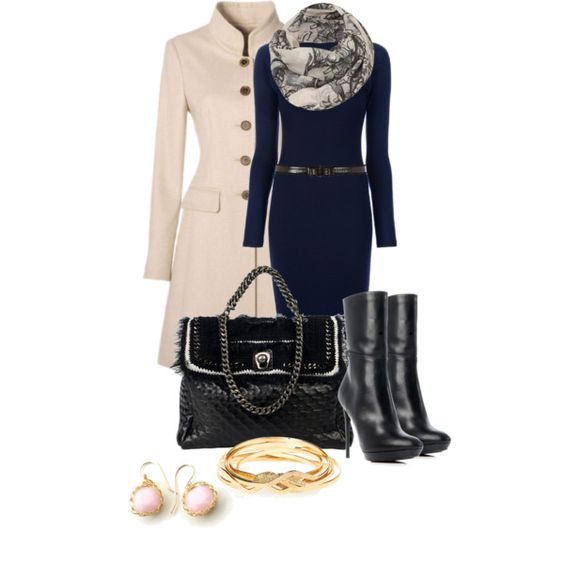 A fashion look from November 2012 featuring Kai-aakmann dresses, Burberry ankle booties y Ermanno Scervino shoulder bags. Browse and shop related looks.