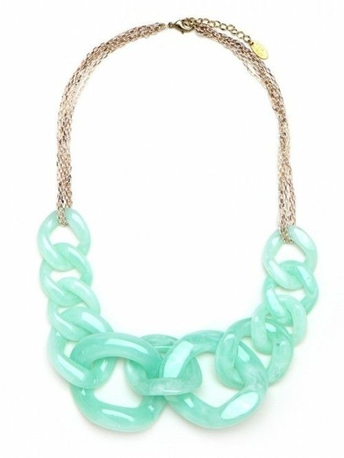 Reminds me of Crayola's Sea Foam colour - a childhood classic. Any rationale to indulge in another necklace.