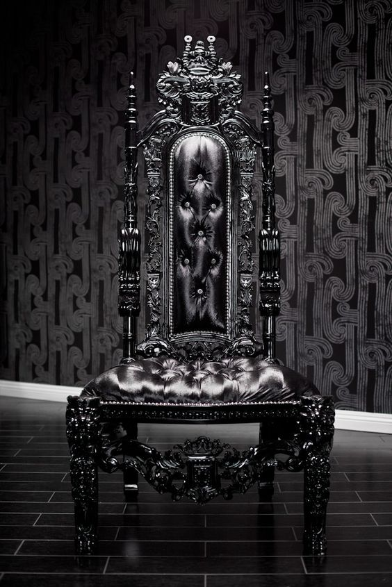 Black Lion Throne Chair Furniture Items Pinterest