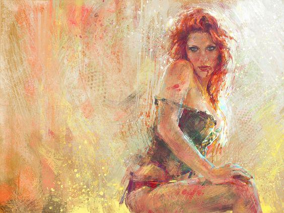 """""""Red Fox Vamp"""" Digital illustration from Marta Nael."""