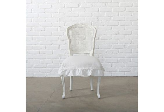 Darcy chair  $398  Shabby Chic couture. I bought a set, in excellent condition from Restore for 120. They just need a coat of paint.. or not.