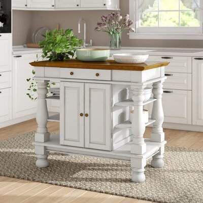August Grove Collette Kitchen Island In 2021 Kitchen Island Furniture Kitchen Island With Granite Top Kitchen Design