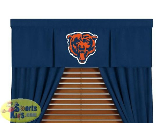 Chicago Bears curtains http://www.sportskids.com/superstore/Bedding/NFL+Bedding/Bears+Bedding/p_686640/Chicago+Bears+NFL+MVP+Micro+Suede+Valance.html?mktid=froogle&ovchn=FRO&ovtac=CMP&ovcpn=Bedding&ovcrn=686640-Chicago+Bears+NFL+MVP+Micro+Suede+Valance
