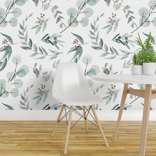 Banksia Marginata Pale Blue In 2021 Peel And Stick Wallpaper Large Scale Wallpaper Nature Inspired Living Room