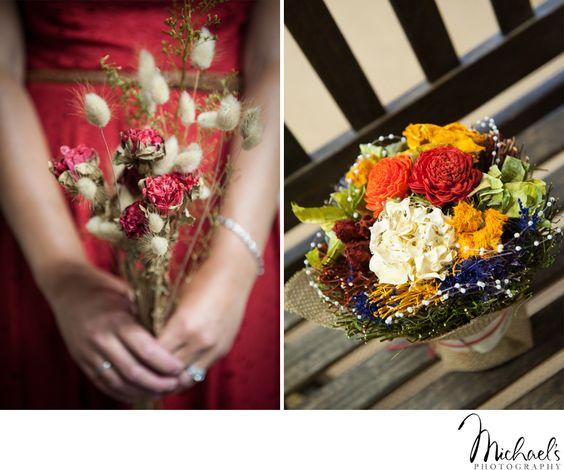 We love these hand made arrangements!   #MichaelsPhotography #MichaelsPhotographyBensalem #BensalemWeddingPhotographer #PhiladelphiaWeddingPhotographer #BrideandGroom #RusticWedding #FarmWedding #LochwoodEstate #SummerWedding #WeddingDetails