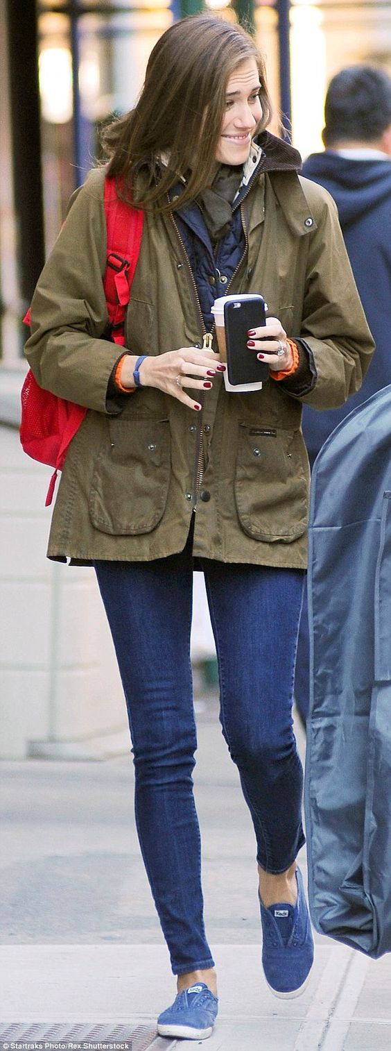 Casual chic: Allison Williams went make up free in a laid back ensemble while out and about in NY on Monday