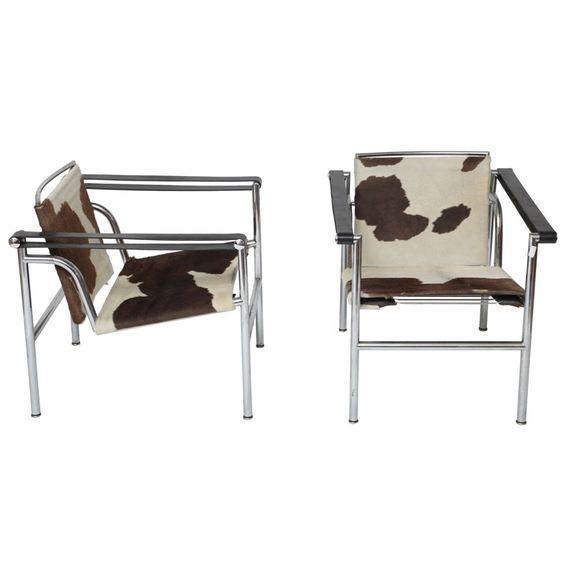 Pair of Le Corbusier LC1 Chairs x2