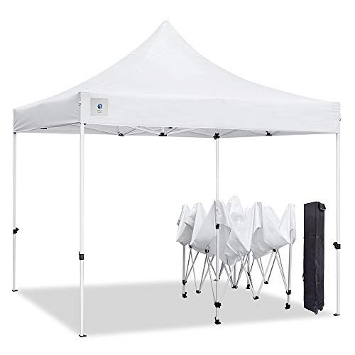10x10 Pop Up Outdoor Canopy Tent By Allinboost Banch Canopy Sun Shelter Commercial Instant Grill Gazebo With Wheeled Carry Bag For Food Vendors Farmers Marke Grill Gazebo Canopy Tent Outdoor Canopy