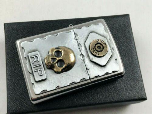 Zippo Vintage Rip Bullet Skull Emblem Rare Collectible Lighter Zippo Lighter Custom Zippo Ebay