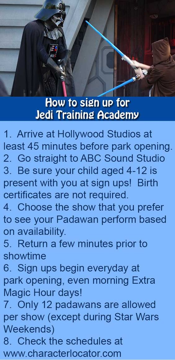 From KennythePirate.com: How to sign up for Jedi Training Academy at Hollywood Studios