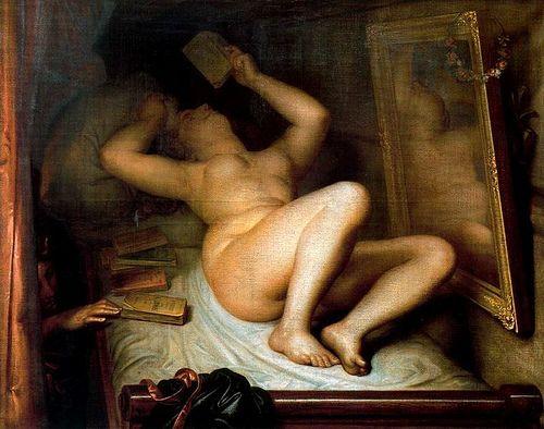 [Antoine #Wiertz - La liseuse de romans (the reader of novels) - 1853]: