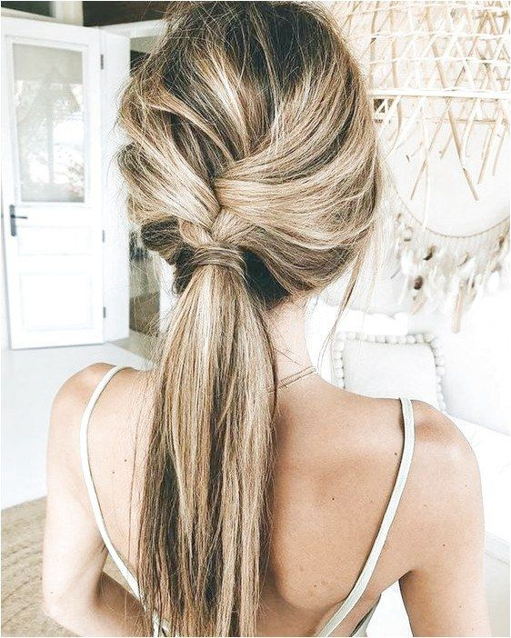 Simple Braid Hairstyle Idea For This Summer Braidsformediumlengthhair Like What You See Click On The Lin Pony Hairstyles Low Pony Hairstyles Long Hair Styles